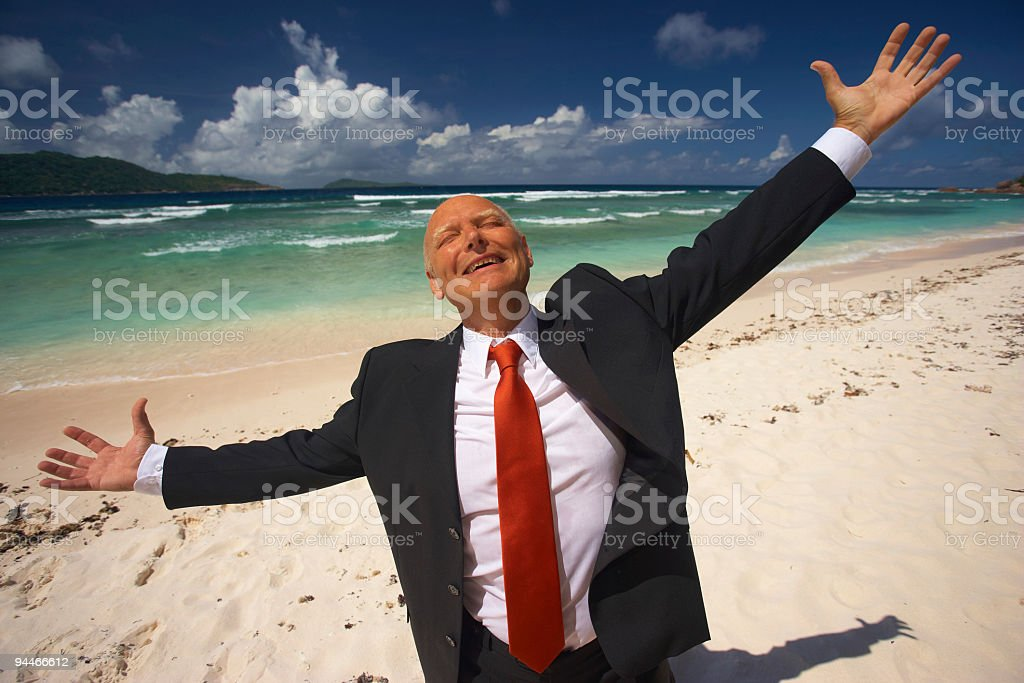 very relaxed senior manager royalty-free stock photo