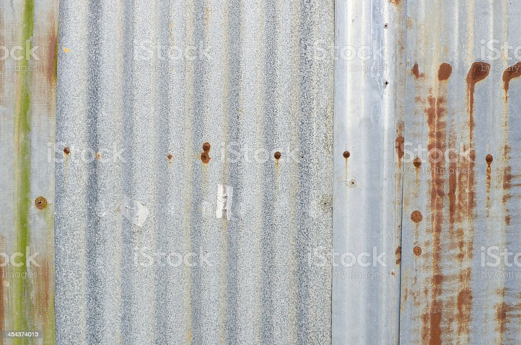Very rusty old zinc wall for background royalty-free stock photo
