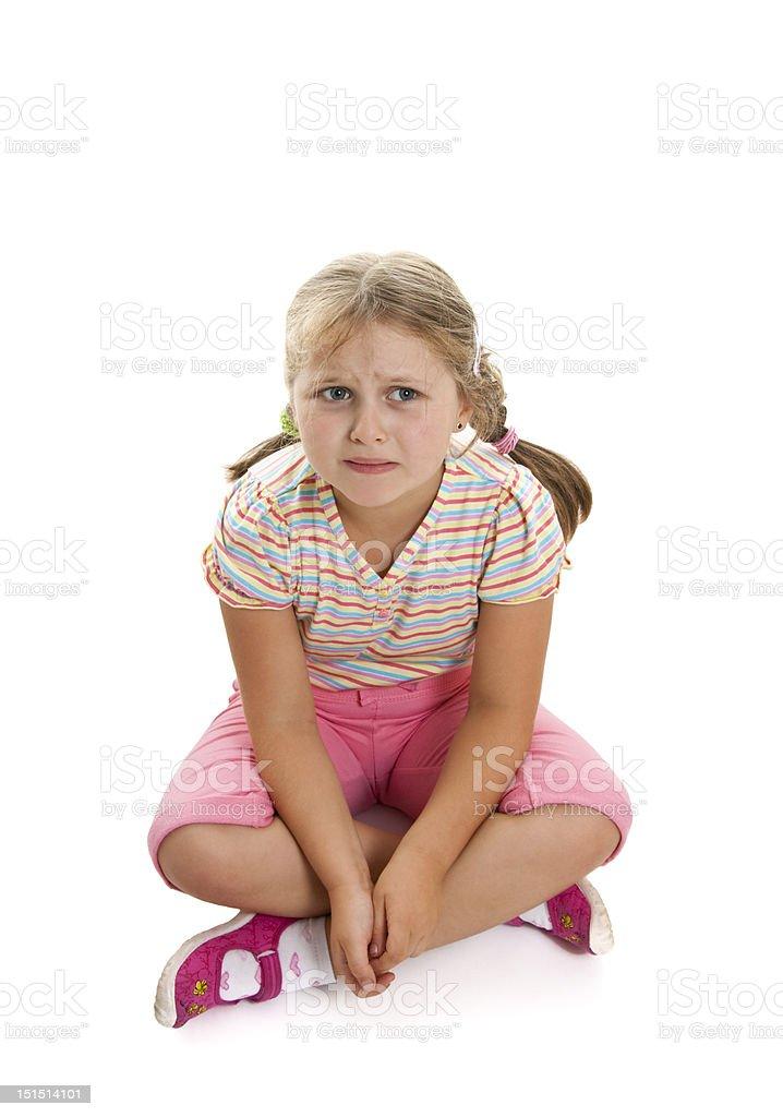 Very sad girl royalty-free stock photo