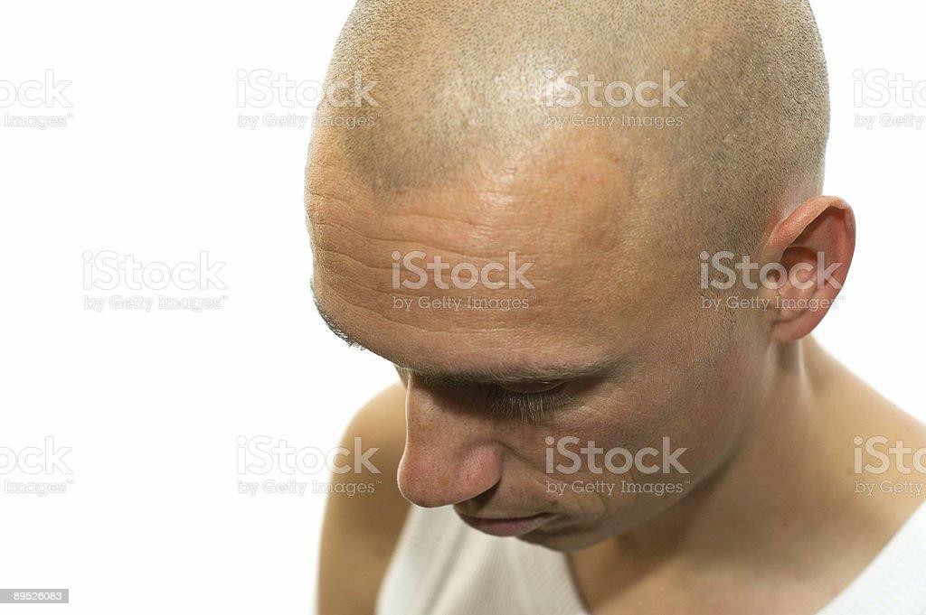very sad man royalty-free stock photo