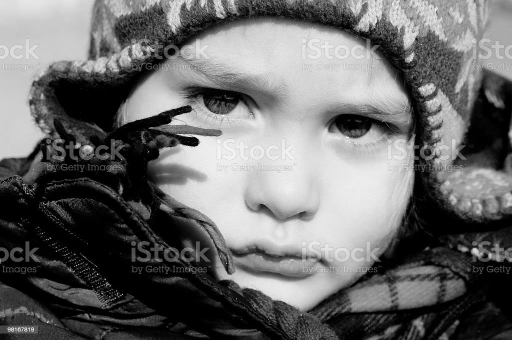 Very serious baby! royalty-free stock photo