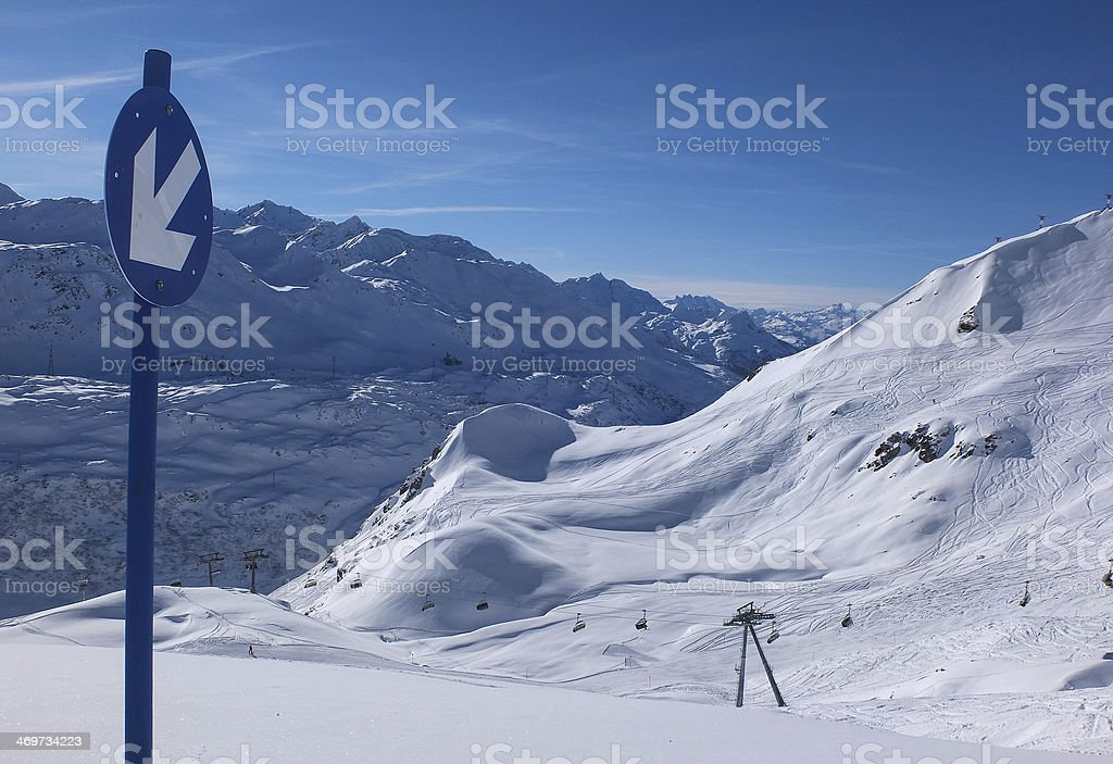 Very steep sloupe in a sunny day royalty-free stock photo