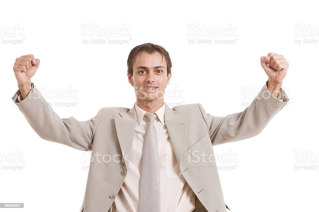 Very Successful with arms raised royalty-free stock photo