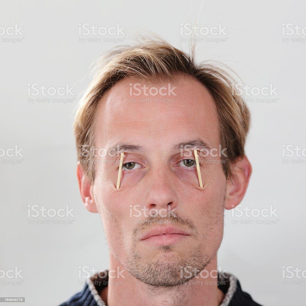 Very Tired Man stock photo