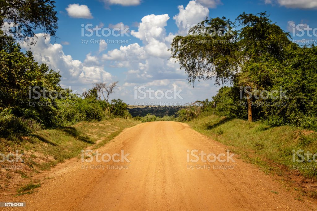 Very typical dirt road stock photo