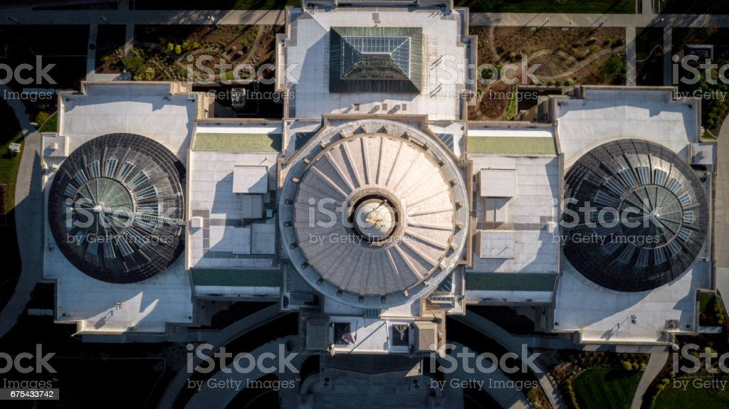 Very unique view of the Idaho state capital in Boise royalty-free stock photo