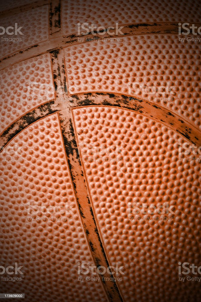 very used basketball texture detail