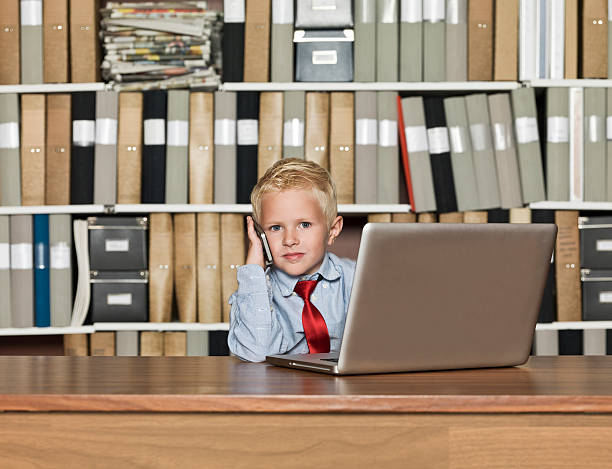 Very young Businessman stock photo