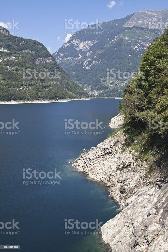 Verzasca Lake Landscape stock photo