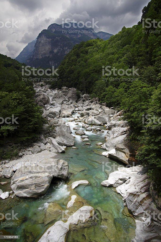 Verzasca río foto de stock libre de derechos
