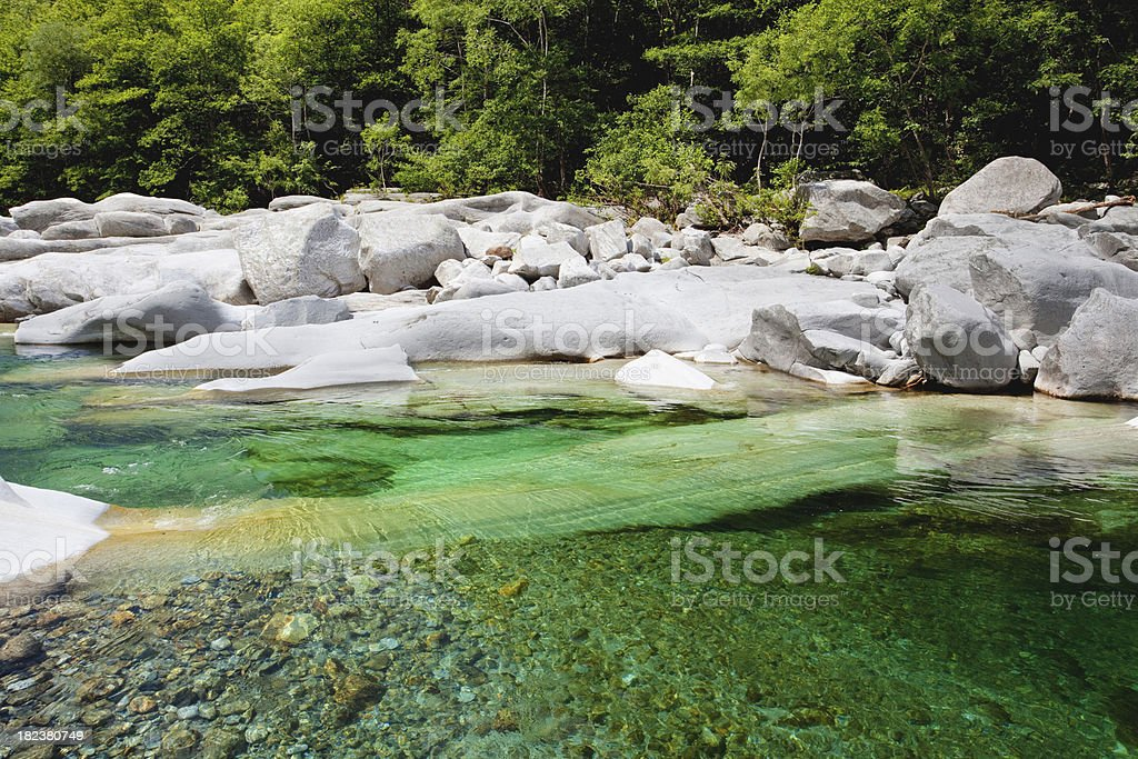 Verzasca river royalty-free stock photo