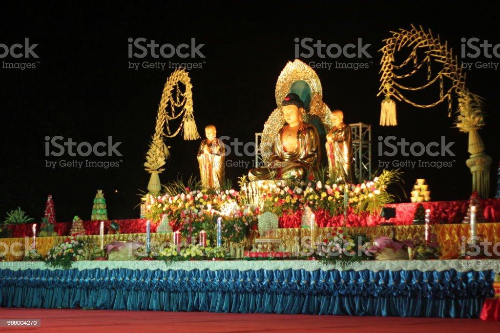 Waisak Tage am Borobudur Tempel Indonesien - Lizenzfrei Blütenfest zum Geburtstag Buddhas Stock-Foto