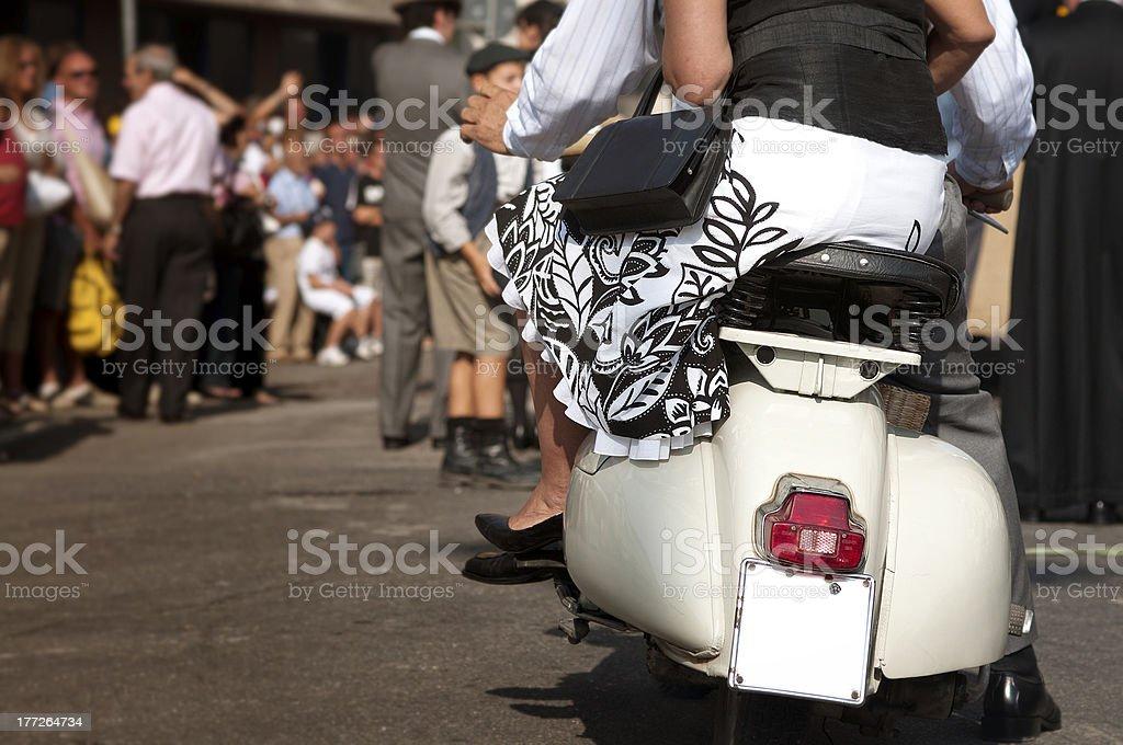 Vespa - italian style stock photo