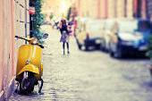 Vespa Scooter in Rome, Italy