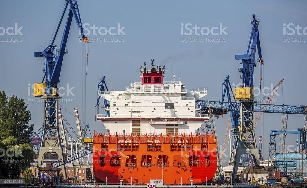 Vessel in Drydock royalty-free stock photo
