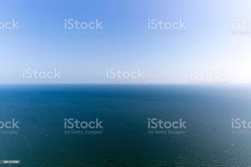 A Vessel On The Blue Ocean royalty-free stock photo