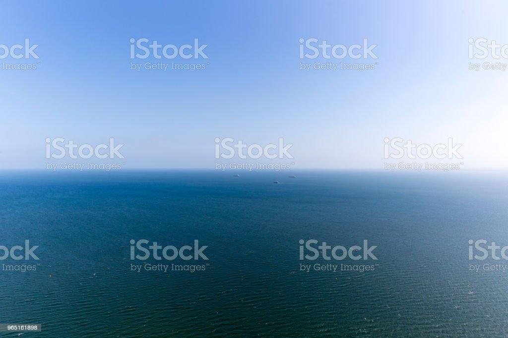 A Vessel On The Blue Ocean zbiór zdjęć royalty-free