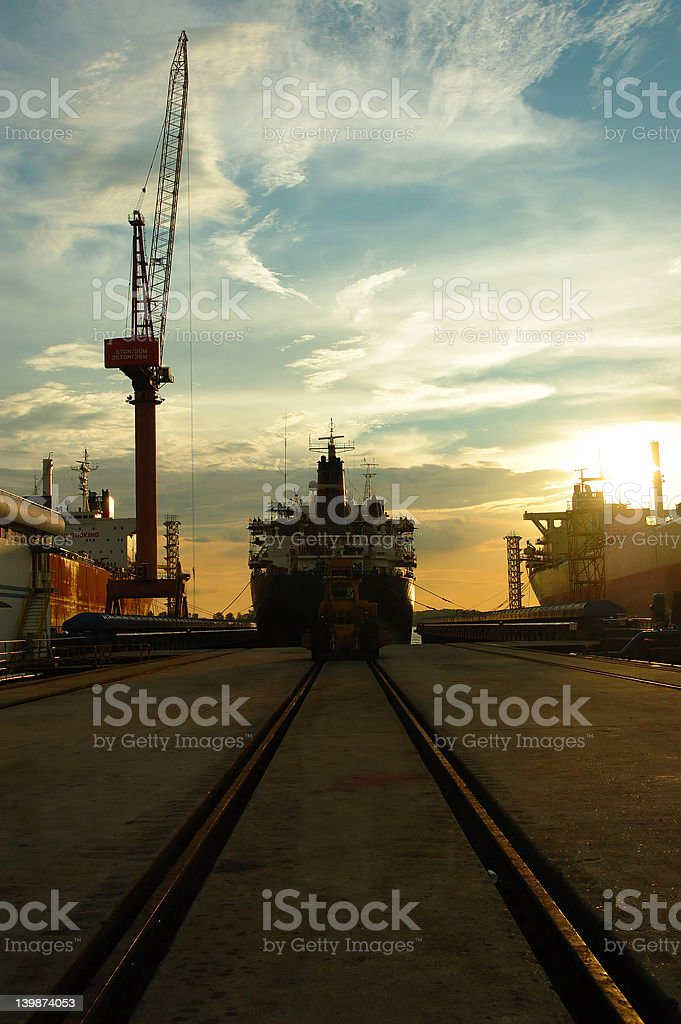 vessel on track royalty-free stock photo