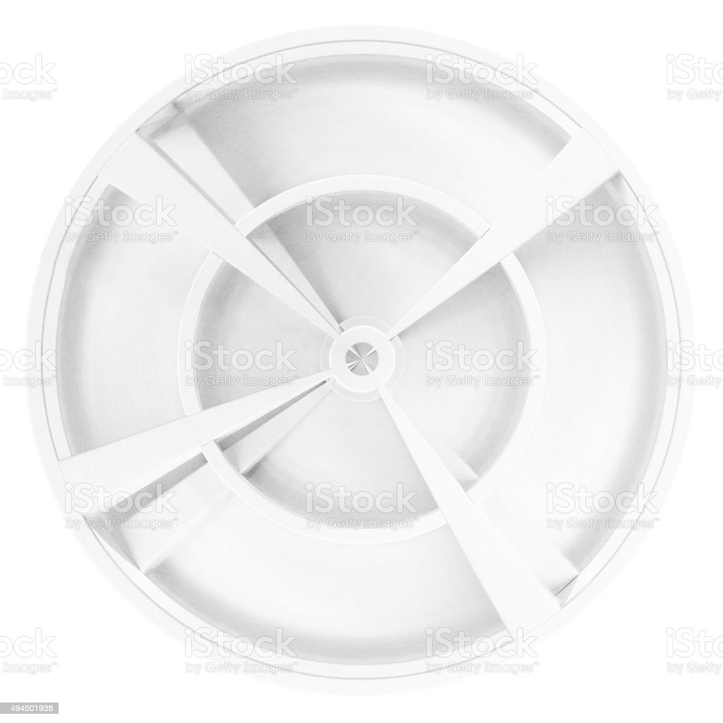 Vessel's lid with radial handles. 3D engineering sketch stock photo