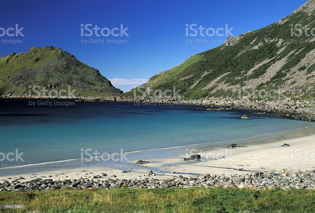 Vesteralen coastline stock photo