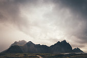 Majestic Vestrahorn mountains in Iceland.