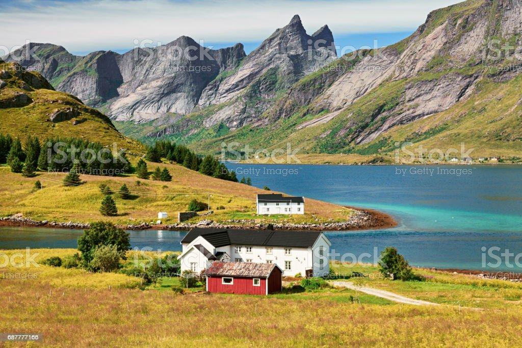 Vestvagoy island, Lofoten Islands, Norway stock photo