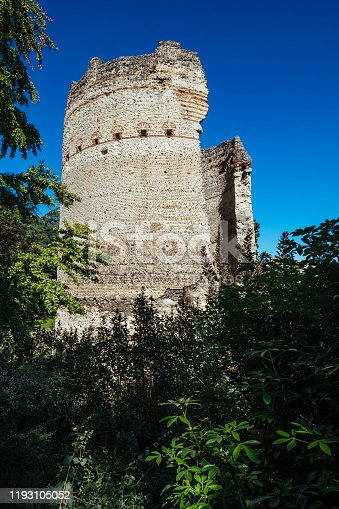 The Roman Vesunna Tower in the town of Perigueux, France