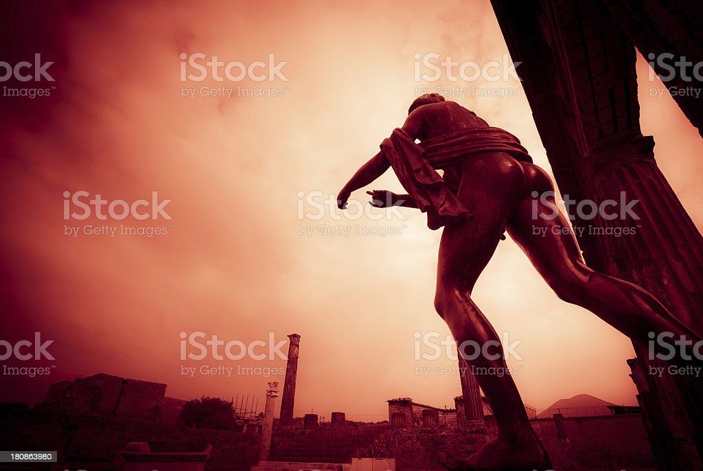 Vesuvius Eruption  , Last Days of Pompeii royalty-free stock photo