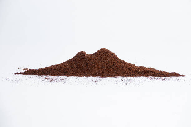 Vesuvius shaped coffee powder - foto stock