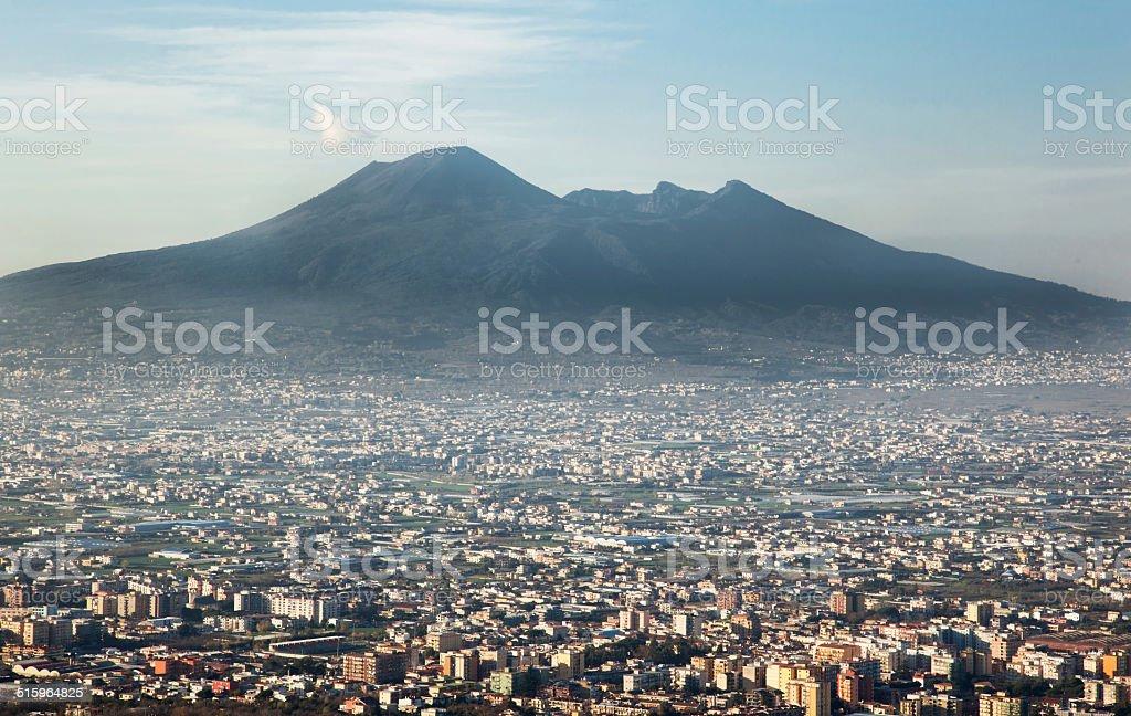 Vesuvius volcano in Naples Italy stock photo