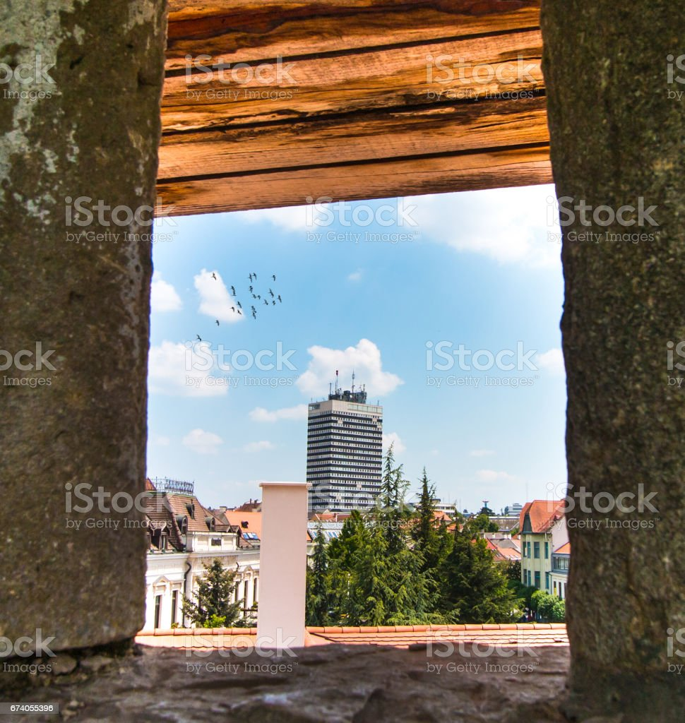 Veszprem skyscaper royalty-free stock photo