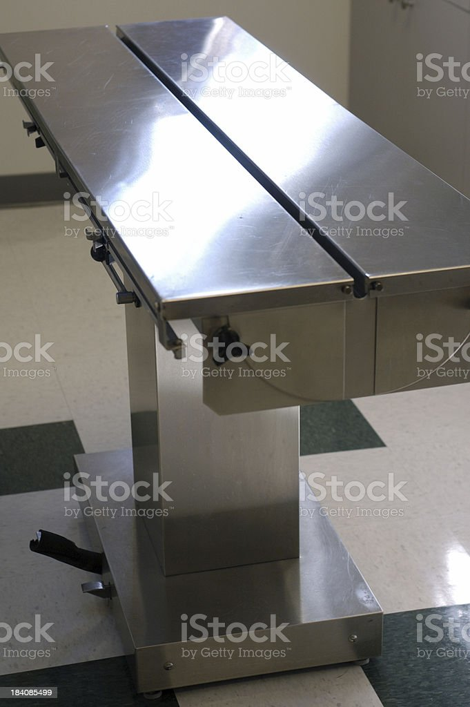 vet surgical table stock photo