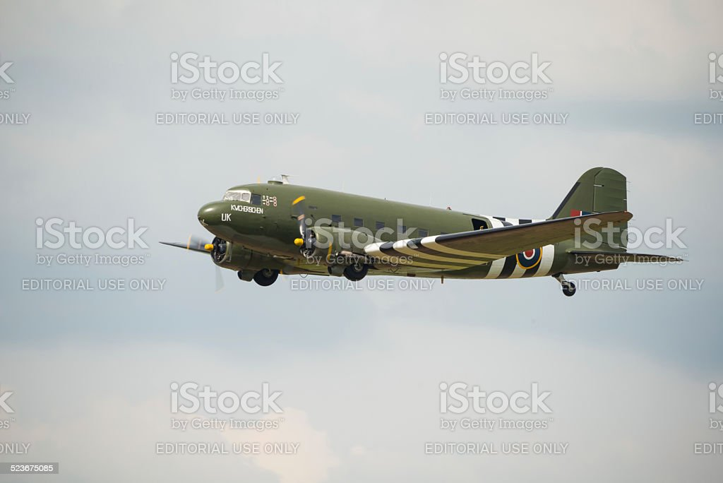 Veteran Douglas DC3 'Kwicherbichen' stock photo