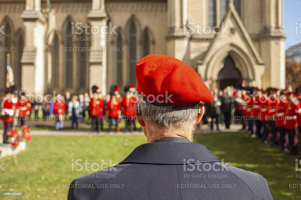 Veteran during the Remembrance Day,2013 stock photo