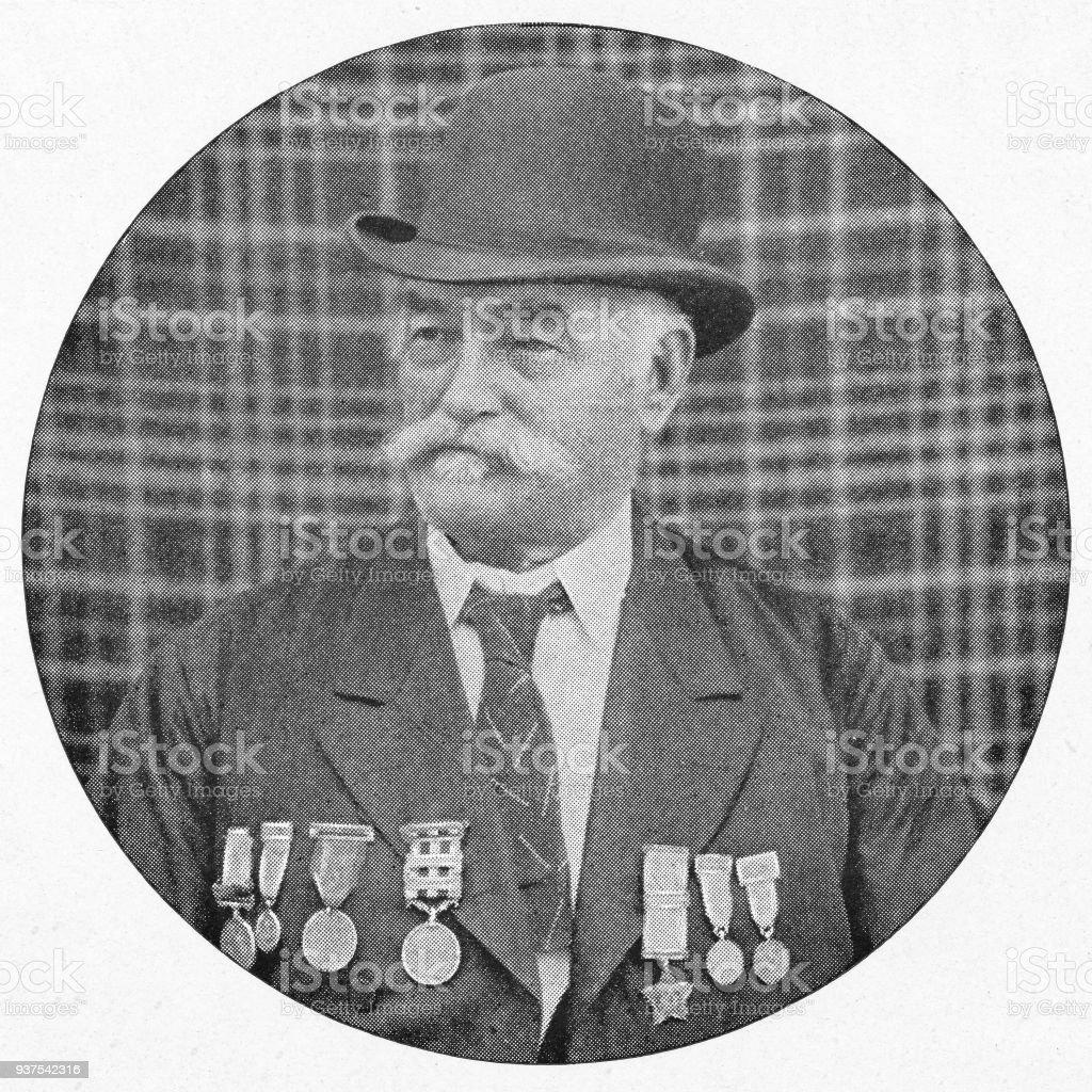 Veteran of General Havelock's Army in Cawnpore, India - British Era stock photo