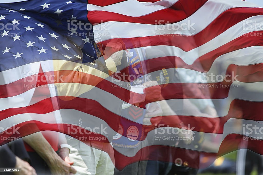 Veteran of Men and Women stock photo