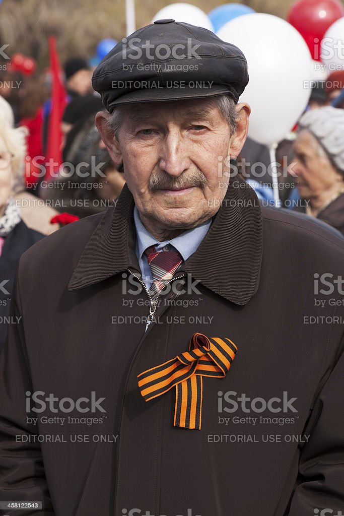 Veteran of the second World war II royalty-free stock photo