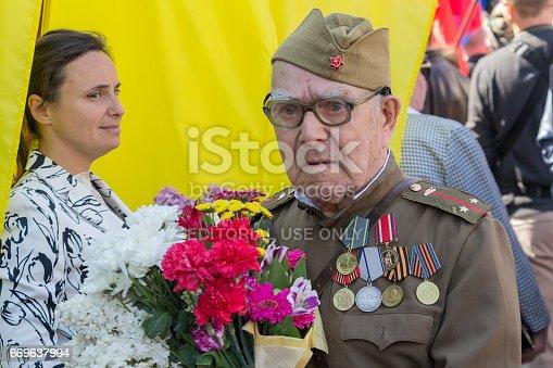 istock Veteran of the Second World War in uniform 669637994