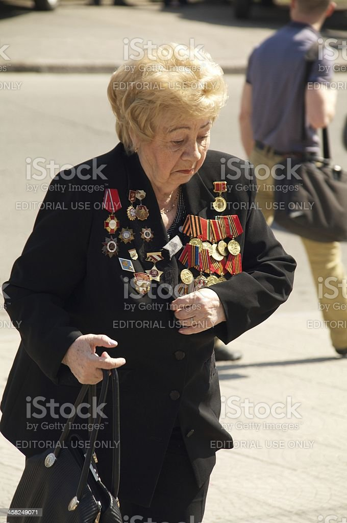 veteran of the World War II royalty-free stock photo