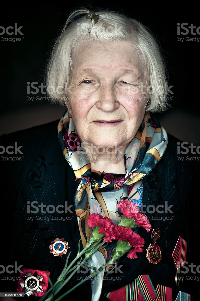 WWII Veteran stock photo