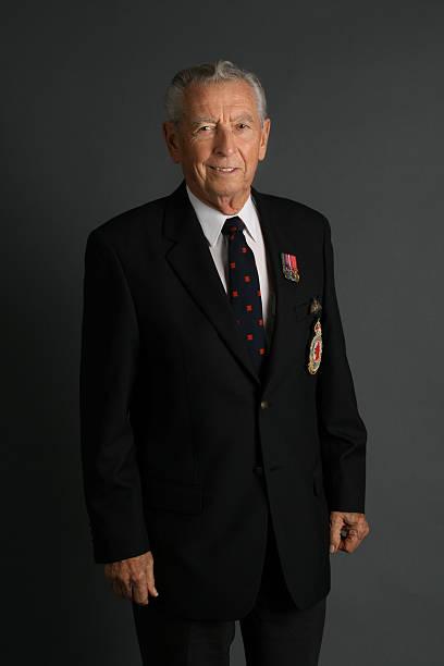 WWII Veteran stock photo