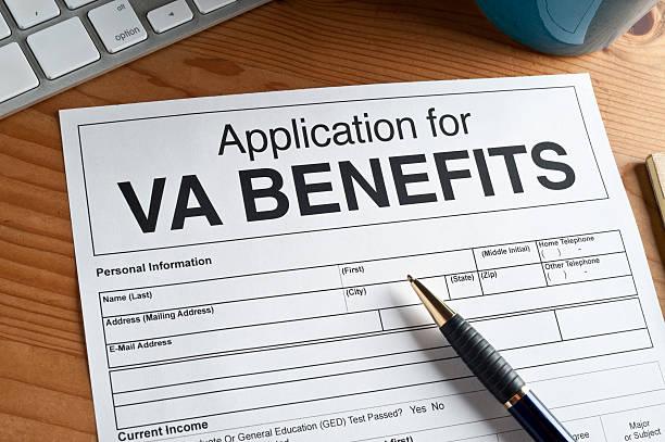 Veterans Administration Form stock photo