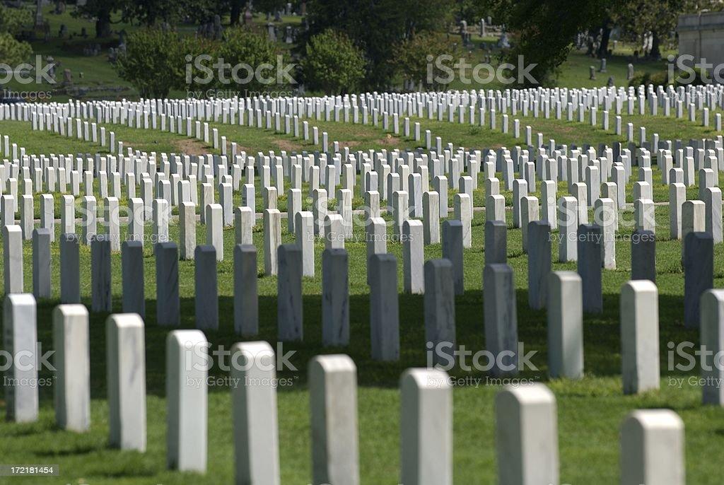 Veterans' Cemetery royalty-free stock photo