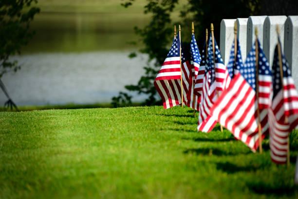 Veterans Cemetery stock photo