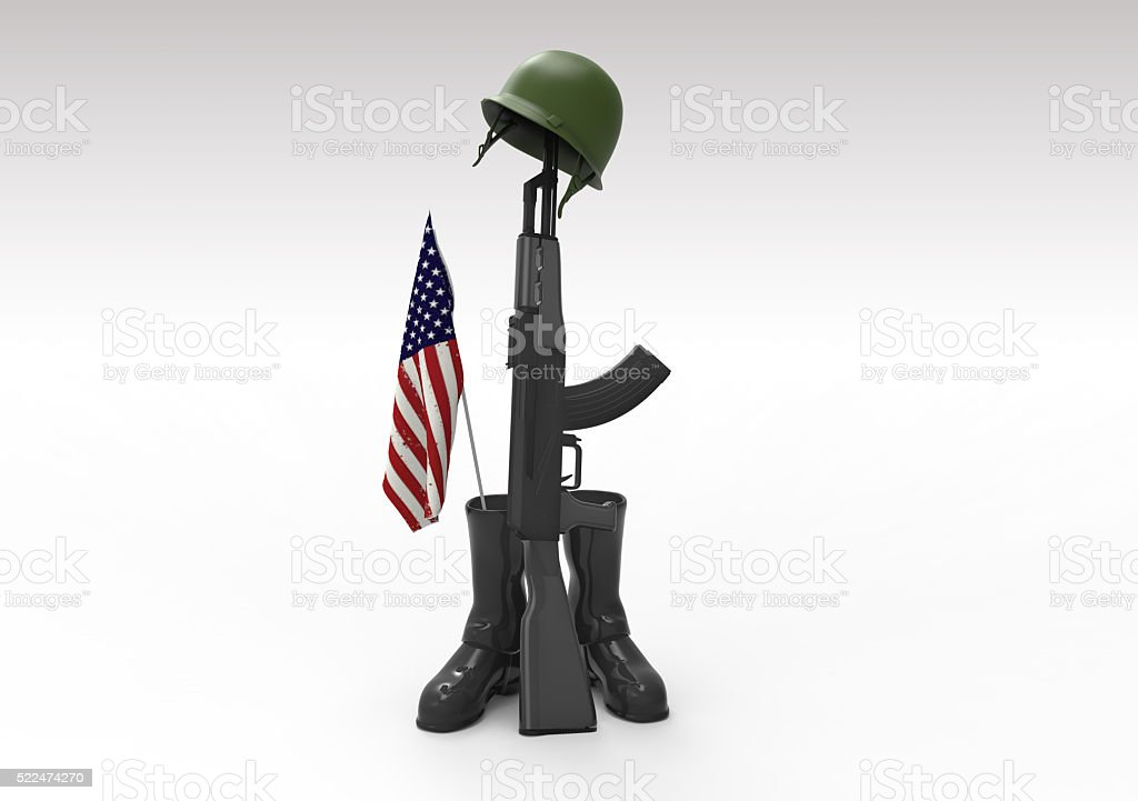 Veterans day 3d objects and symbol stock photo