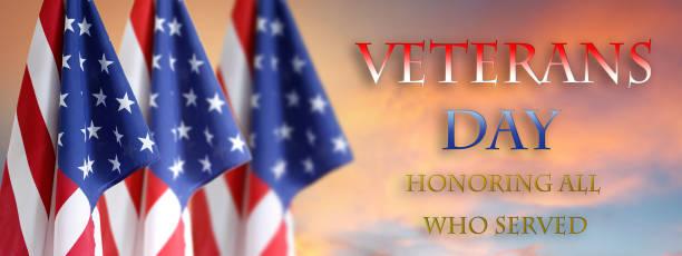veterans day american flags - veterans day стоковые фото и изображения