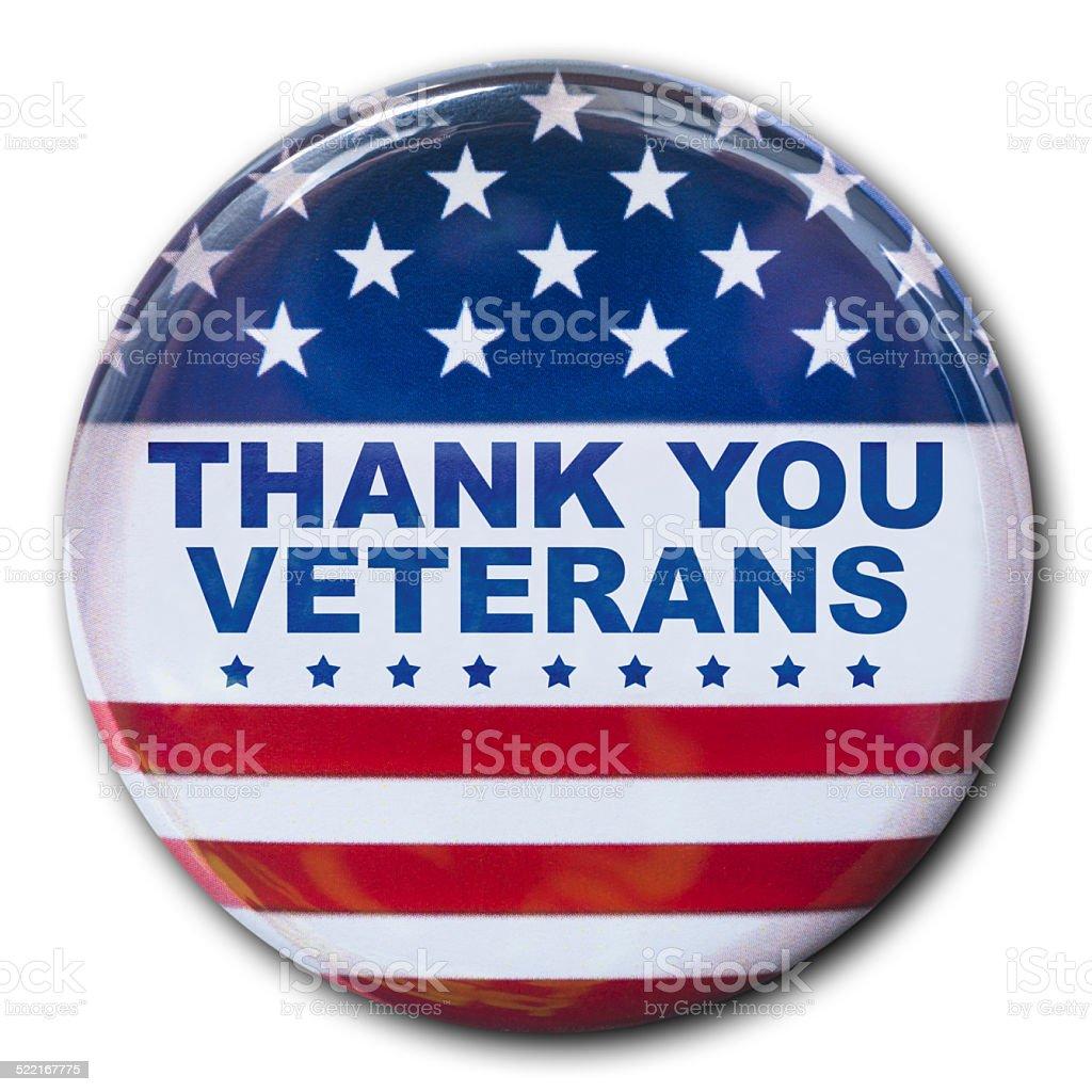 veterans day badge button stock photo