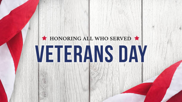 veteran's day - honoring all who served text over white wood - veterans day стоковые фото и изображения