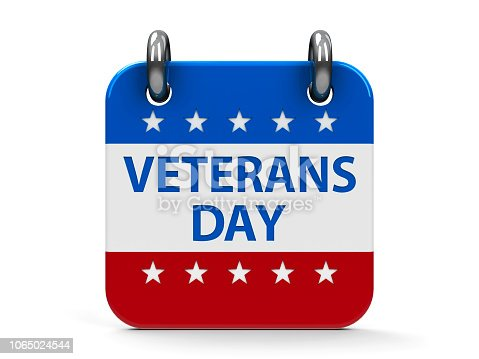 istock Veterans day icon calendar 1065024544