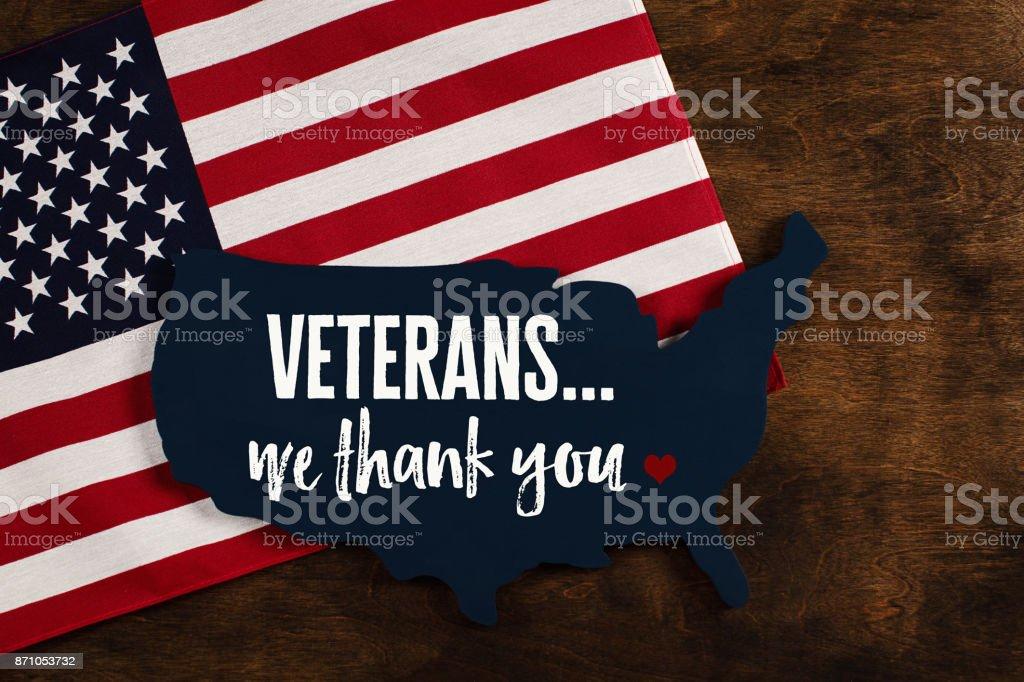 Veterans Day in America. Thank you Veterans stock photo